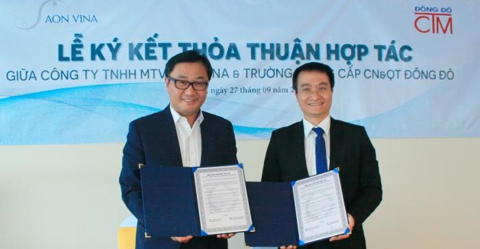 Lễ ký kết hợp tác với Công ty TNHH MTV AON VINA