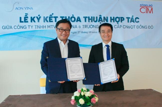 Lễ ký kết hợp tác với Công ty TNHH MTV AON VINA ảnh 3 trường Trung cấp Công nghệ và Quản trị Đông Đô