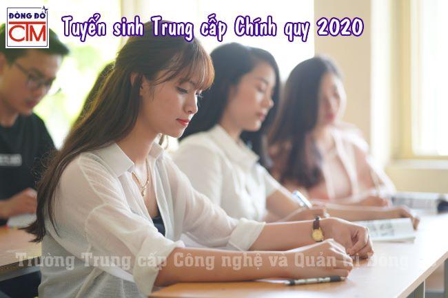 ảnh tuyển sinh trung cấp chính quy 2020 trường Trung cấp Công nghệ và Quản trị Đông Đô