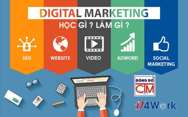 ảnh học digital marketing trong chương trình trung cấp trường Trung cấp Công nghệ và Quản trị Đông Đô