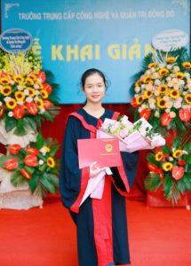 lễ trao bằng tốt nghiệp Trung cấp chính quy đợt 2 năm 2020 ảnh 10 trường Trung cấp Công nghệ và Quản trị Đông Đô