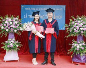 lễ trao bằng tốt nghiệp Trung cấp chính quy đợt 1 năm 2021 ảnh 1 trường Trung cấp Công nghệ và Quản trị Đông Đô