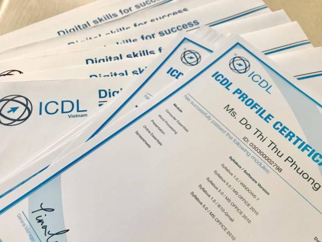 khoá ôn thi chứng chỉ tin học quốc tế ICDL trường Trung cấp Công nghệ và Quản trị Đông Đô